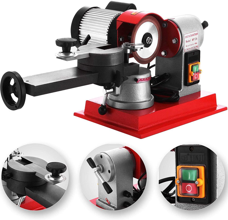 370W Circular Saw Blade Sharpener 2850PRM Rotary Angle High-Performance Mill Grinding Machine 125mm