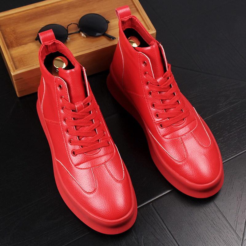 Fashion Forward-حذاء كاجوال أبيض للرجال ، منصة عالية ، مسطح ، عصري ، نمط الهيب هوب ، للترفيه ، 38-44 ، ERRFC