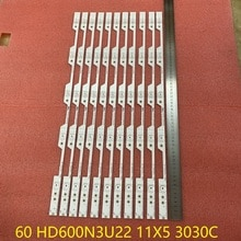 11pcs/set 5LED LED backlight bar for HISENSE H60NEC5600 60 HD600N3U22 11X5 3030C D6T