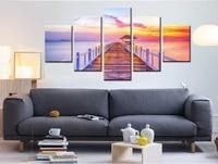 5 panneau modulaire image coucher de soleil paysage peinture sur toile moderne maison impression salon deco mode mur Art decorer affiche
