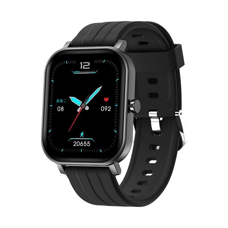 ساعة رياضية متصلة بهواتف Android و IOS ، شاشة ملونة عالية الدقة مقاس 1.69 بوصة ، ومعدل ضربات القلب ومراقبة ضغط الدم للرجال والنساء