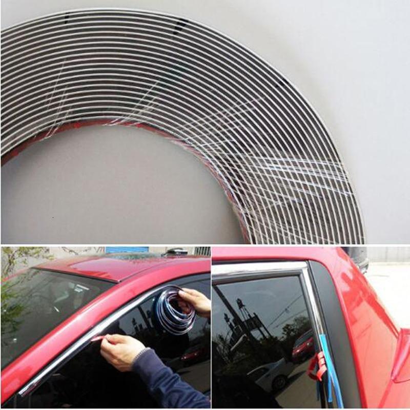1 meter 6/8/10/12/15/18/20/25 / 30mm chrome door trim window protection film anti-collision mirror