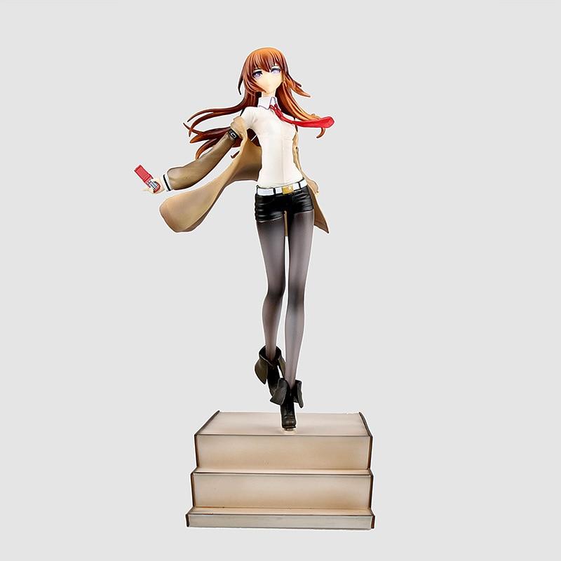 Steins Gate Makise Kurisu, miembro de laboratorio, escala 004 1/8, figura pintada, juguete de modelos coleccionables