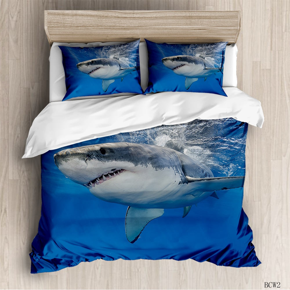 Juego de cama de Cuerpo Marino en 3D, juego de cama de ballena tortuga doble reina para niños, edredón de cama de tamaño completo, funda de edredón, funda de almohada para dormitorio