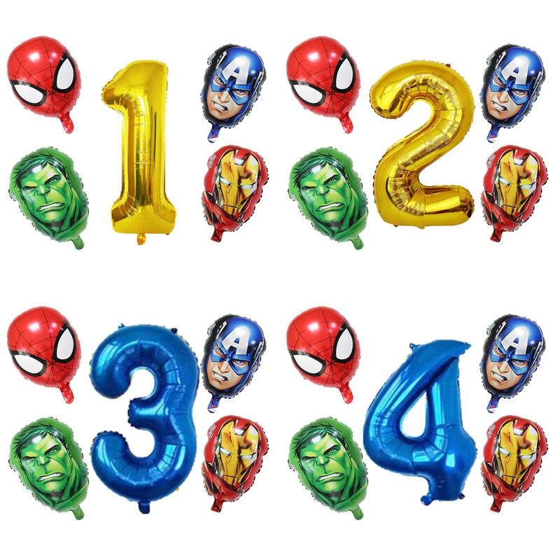 5pcs/lot Hero Balloon Bat party man Aluminum Foil Balloons Kids Birthday Party Decoration Baby Showe