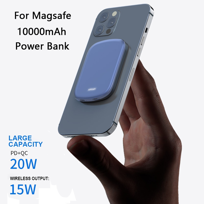 15W Magnetic Wireless Charging PD20W Magnet Power Bank For iPhone 12 Pro Max 12Mini 10000mAh Externa