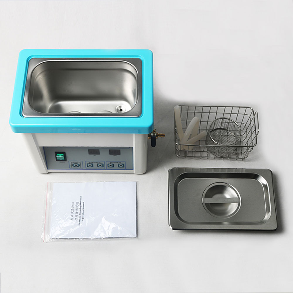 5L 304 stainless steel Ultrasonic Cleaning Machine with mesh basket dental cleaning machine