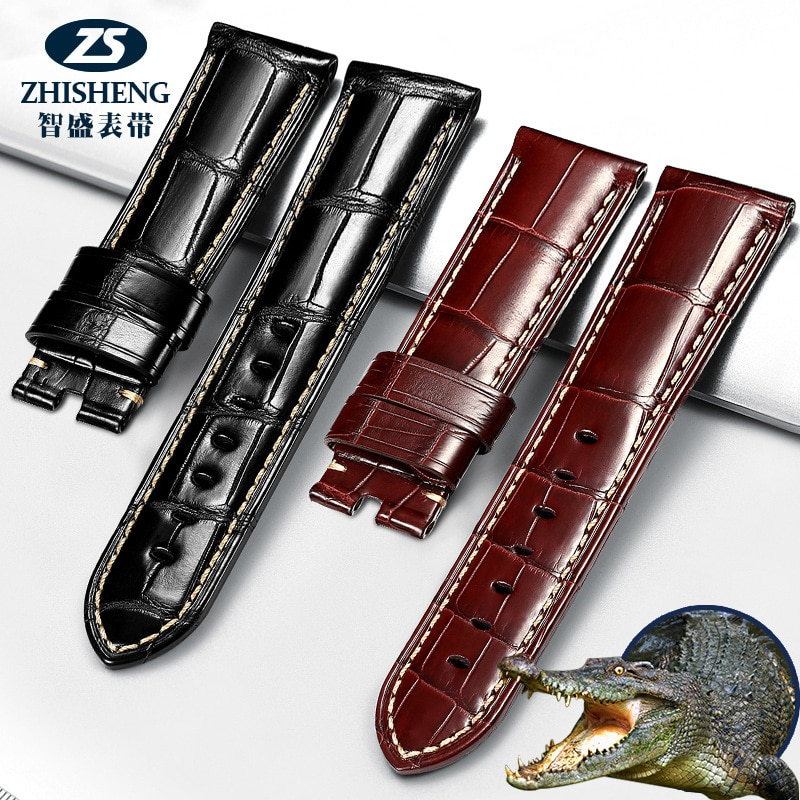 Alligator leather strap replacement Panerai PAM24 26mm royal watch strap men's alligator leather 7-34 enlarge