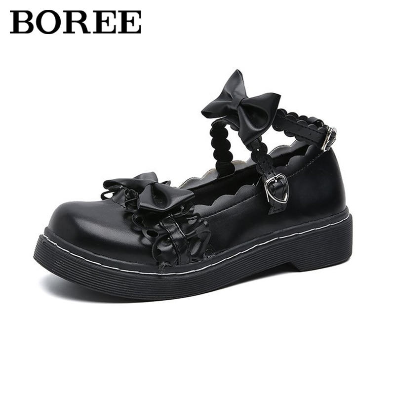 Lolita Shoes Women Japanese Style Mary Jane Shoes Women Round Head Vintage Platform Sandals Jk Student Low Heel Cosplay Shoes japanese sweet lolita cosplay t strap bowtie mary jane shoes princess girl square heel latin dance shoes