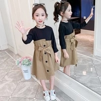 girls dresses spring long sleeve kids party princess cotton dress fashion children autumn dress girls clothes 4 6 8 10 12 years