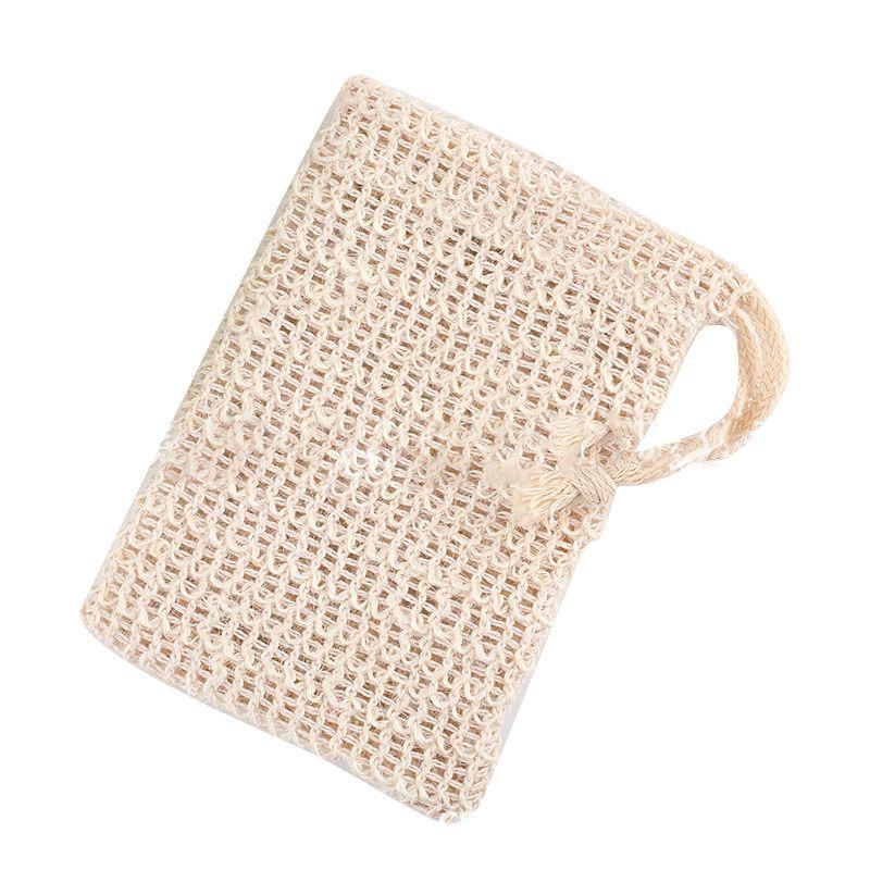 Soap Saver Bag For Bath Shower Drawstring Linen Net Pouch Exfoliating Rich Lather Supplies
