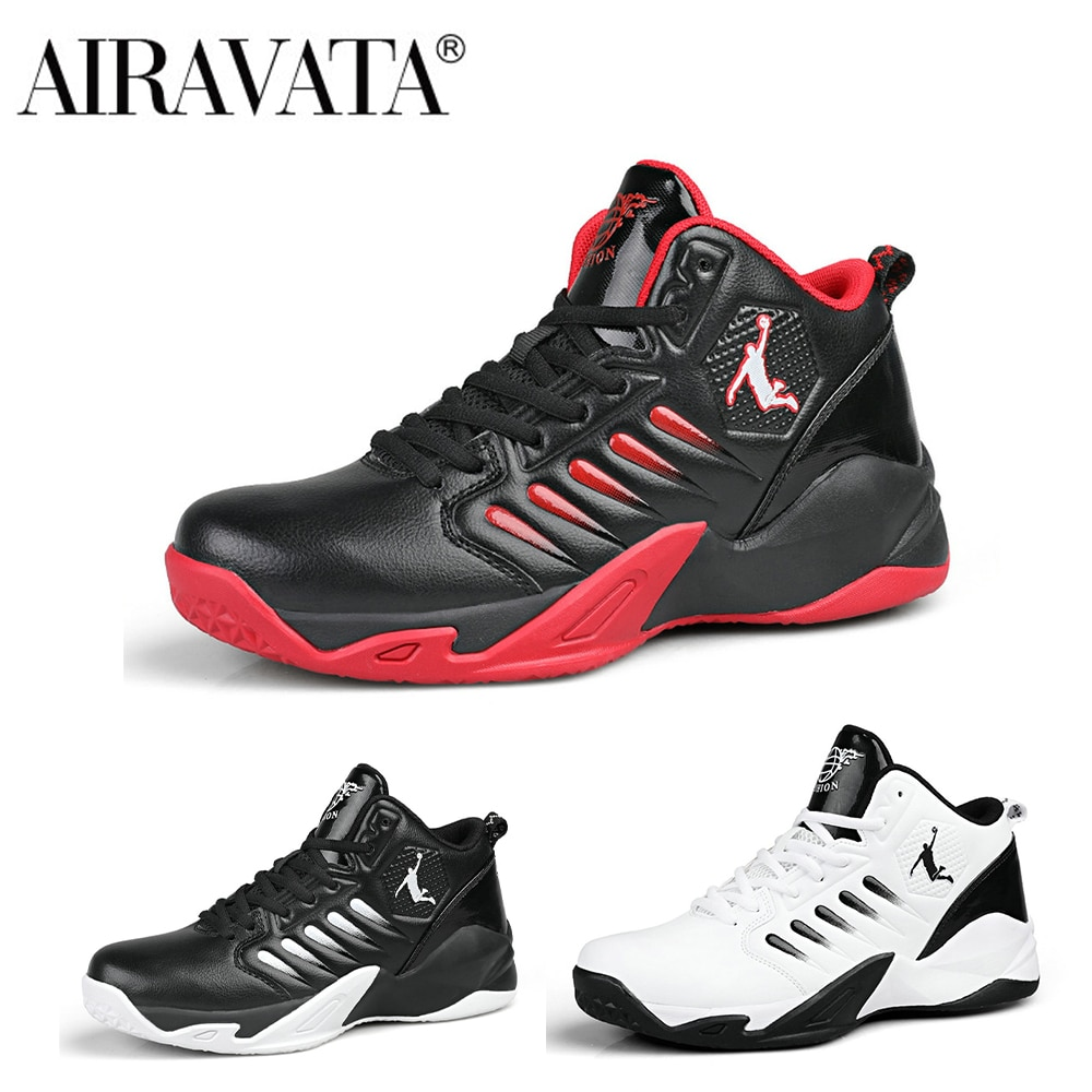 Airavata ملابس كرة السلة للرجال أحذية رياضية في الهواء الطلق الترفيهية الهواء نفاذية الاسمنت باطن سميكة لامتصاص الصدمات