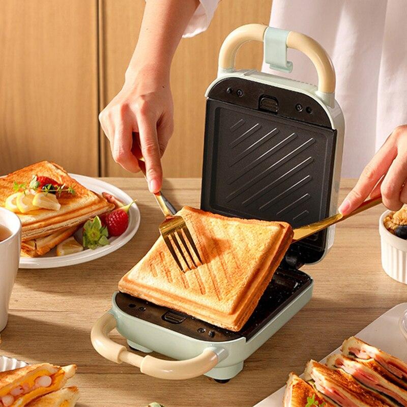 Sandwichera eléctrica para hacer waffles, máquina de cocina multifunción para hacer waffles,...