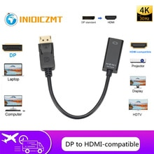 DP to HDMI-compatible Cable Adapter Male To Female For HP/DELL Laptop PC Display Port to 4K HDMI-com