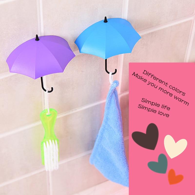 Cangkuk payung tanpa tanda tanpa penggerudian, cangkuk pelekat diri - Organisasi dan penyimpanan di dalam rumah - Foto 3