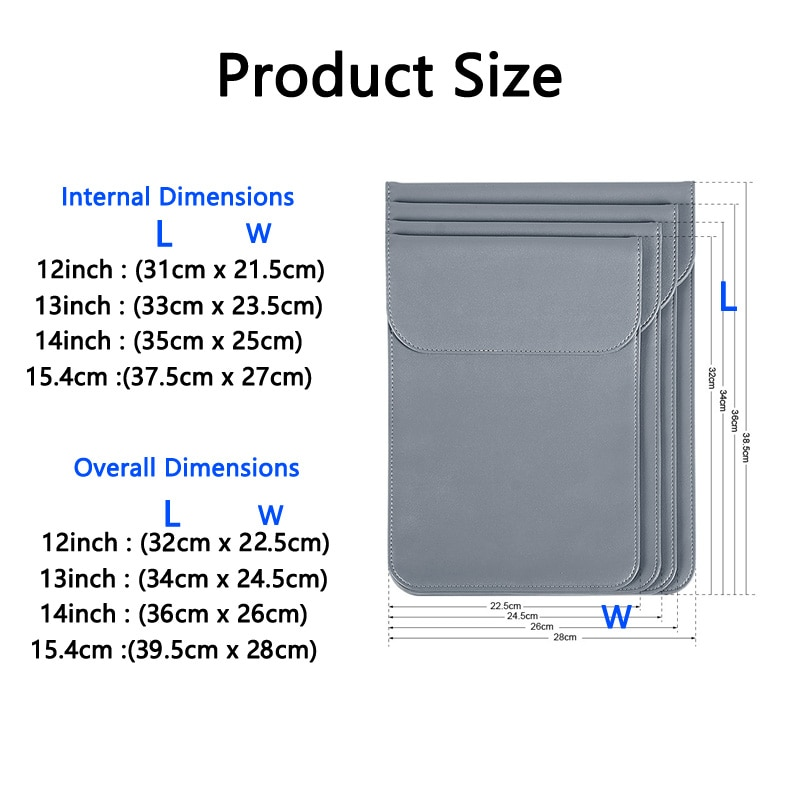Laptop Tablet PC Notebook Sleeve eBook Bag Ultrabook Case for Macbook