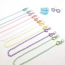 2021 New Fashion Kids Glasses Chain Mask Chain Holder Hollow Star Heart Sunglasses Lanyard Eyewear H