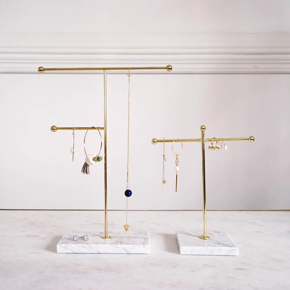Suporte de caixa de armazenamento de metal nórdico rack de armazenamento brinco cabide expositor jóias organizador anel pulseira suporte de mesa