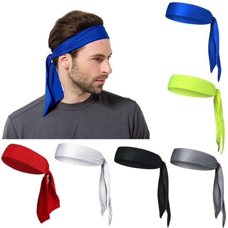Banda de sudor Unisex 2019 cabeza elástica vincha ciclismo Yoga deportes 1Pc tenis gimnasio al aire libre sudor banda de pelo