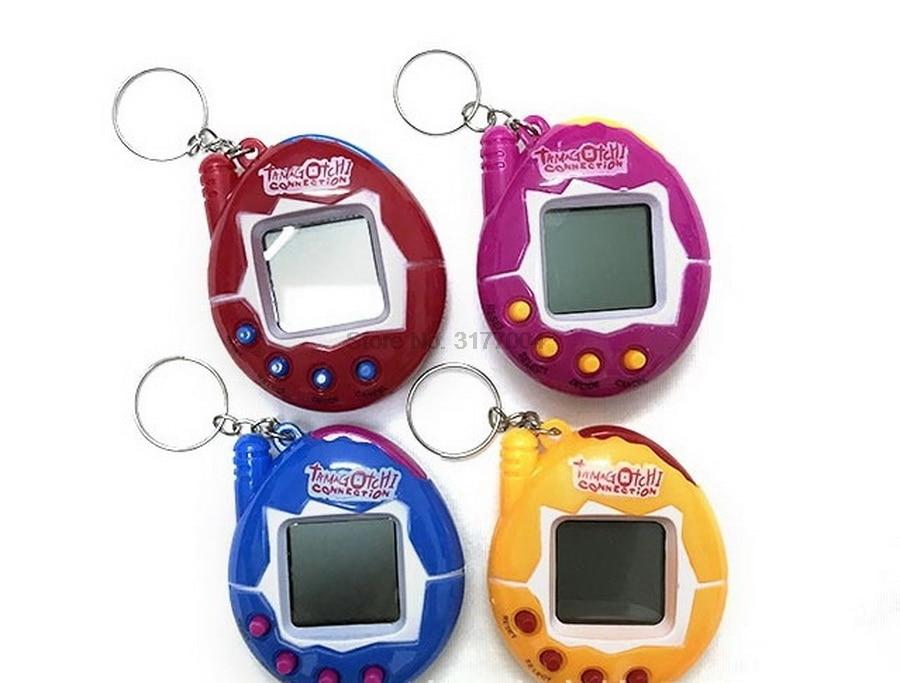 DHL 100pcs Funny Unisex Electronic Pet Button Virtual Included Tamagotchi 2 1 Machine Electonic Pet enlarge