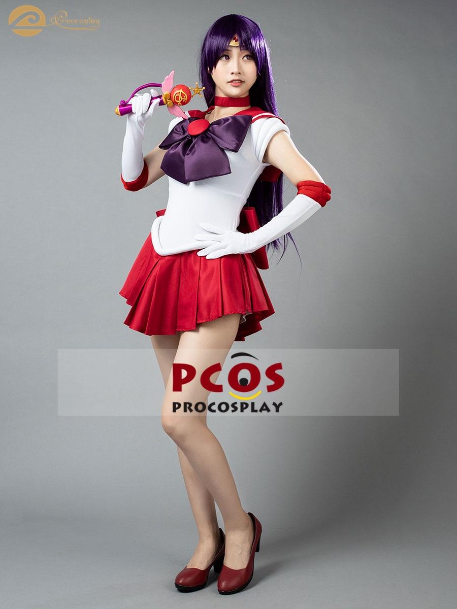 El Mejor Precio de ~ marinero Luna Sailor Mars Rei Hino Cosplay disfraz y sombreros y zapatos Mp000570