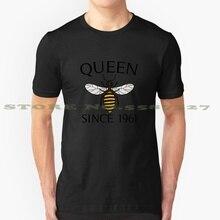 Reine des abeilles depuis 1961-cadeaux danniversaire mode Vintage t-shirt t-shirts apiculteur miel anniversaire Sassy Royal gentillesse jaune