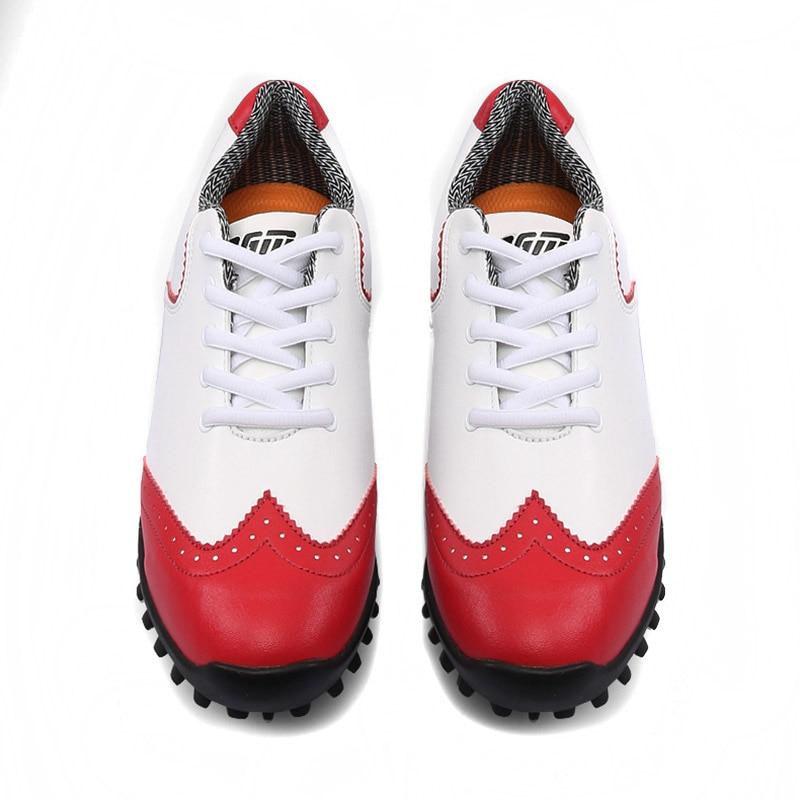 NEUE Golf Ball Wasserdichte Golf Schuhe Frauen Sport Aktivität Schuhe Nagel Stil Damen Schuh Brogue Atmungs