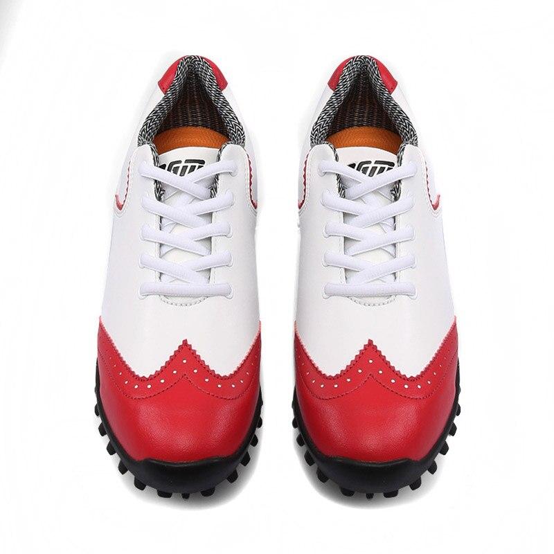 Nueva pelota de Golf, zapatos de Golf impermeables, zapatos deportivos de actividades para mujeres, estilo de uñas, zapatos de señora, Brogue transpirable