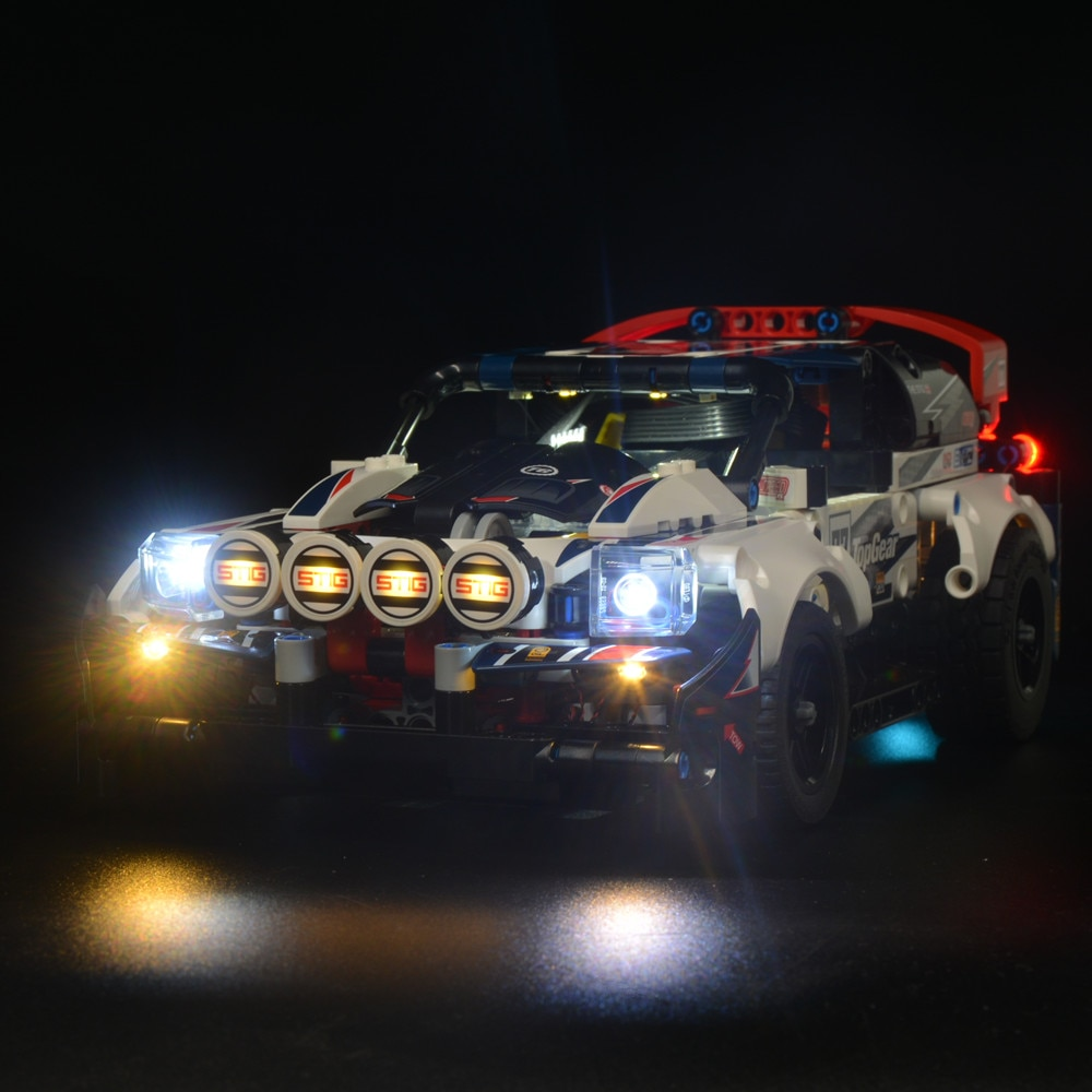 Kit de luz LED compatible con Lego 42109, equipo técnico superior, bloques de construcción de automóviles Rallyed para iluminar sus bloques de juguete (solo luz)