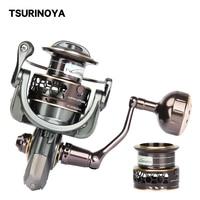 TSURINOYA Fishing Reel Jaguar 4000 5000 Double Spool Carp Reel 9+1BB 5.2:1 Fishing Lure Spinning Reel Saltwater Feeder Reel