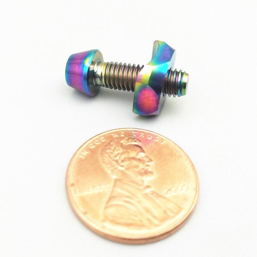 Parafusos de titânio M5 x16mm disco Dianteiro junta fixa Para 5800/6800 Cone Cabeça Hexagonal parafusos Ti Ti fastener 2pcs