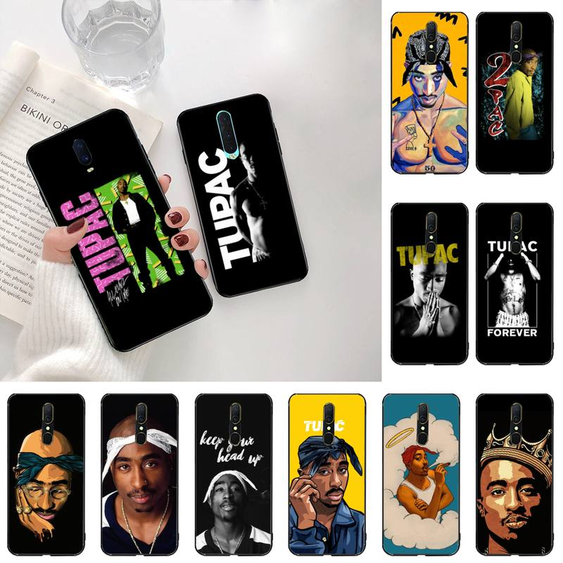 Capa de telefone 2pac tupac shakur, de silicone macio, tpu, para oppo a5 a9 2020 renoace 3pro realme5pro