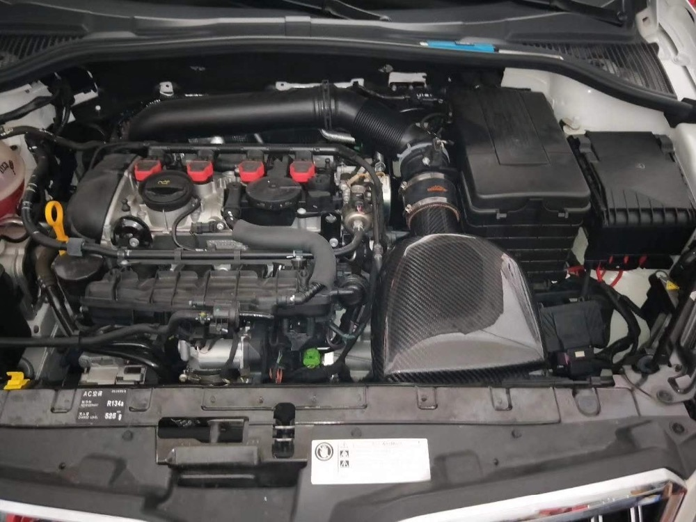 مدخل هواء من ألياف الكربون لمحرك VW golf MK6 gti cc audi tt tts s3 EA888 tsi