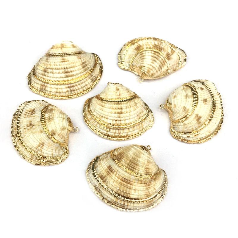 Conchas naturales colgantes COLLAR COLGANTE para hacer joyería DIY pulsera collares accesorios tamaño 50x45mm