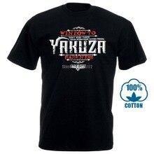 Yakuza t-shirt hommes rond coton manches courtes mode t-shirts 012826