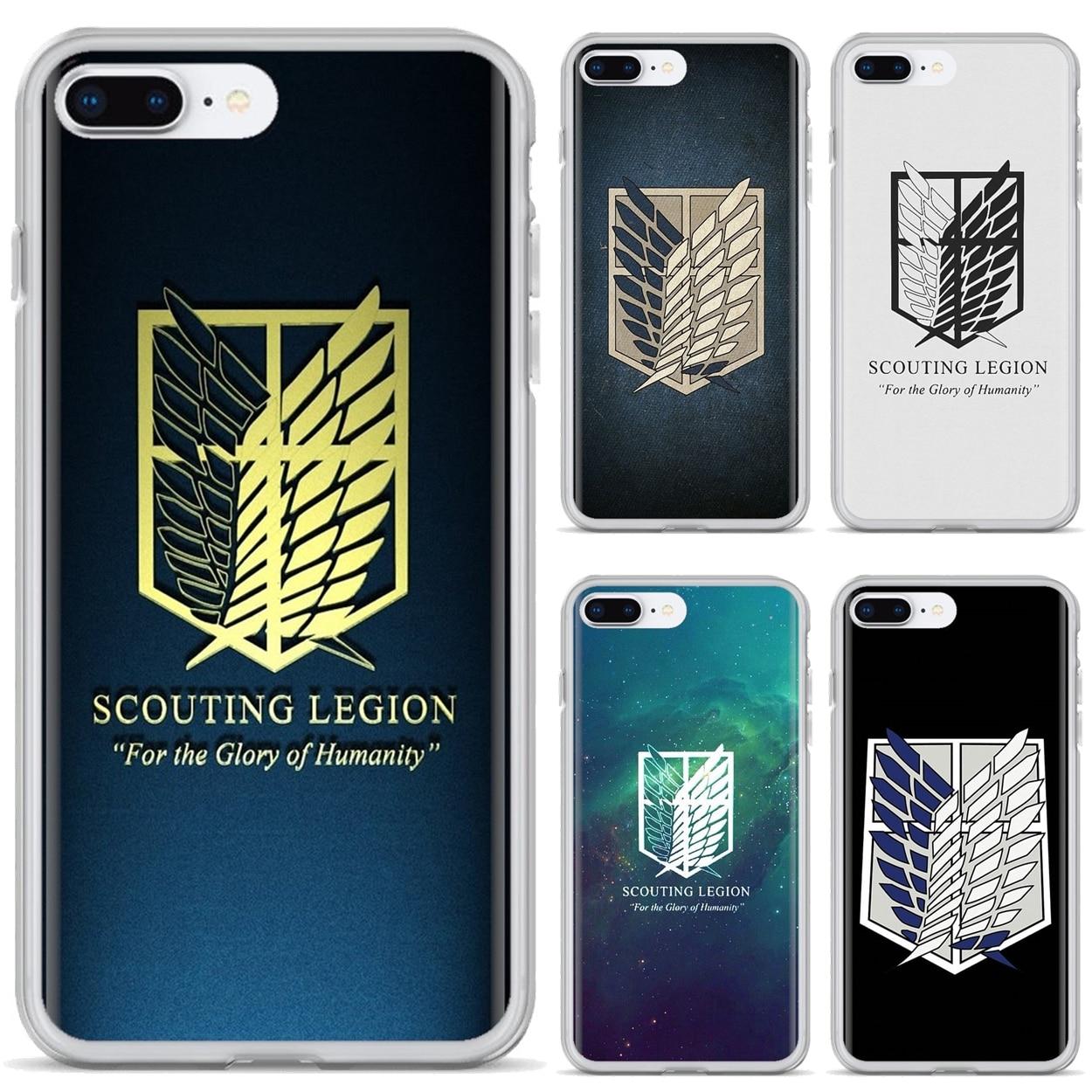 Мягкий чехол для Samsung Galaxy S6 S10E S10 Edge Lite Plus Core Grand Prime Alpha J1 mini attack on titan scuting Legion