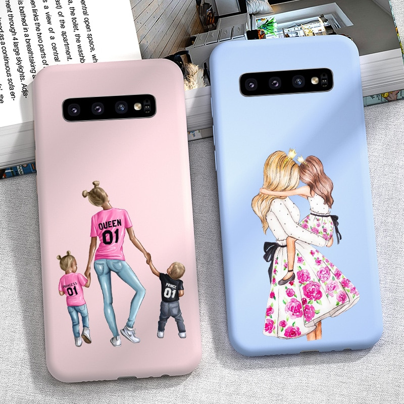 Funda de teléfono Candy Girls para Samsung Galaxy S10 S9 S8 Plus S 10 Lite S10E S10 5G funda de silicona suave parachoques Super Mama mamá mujeres