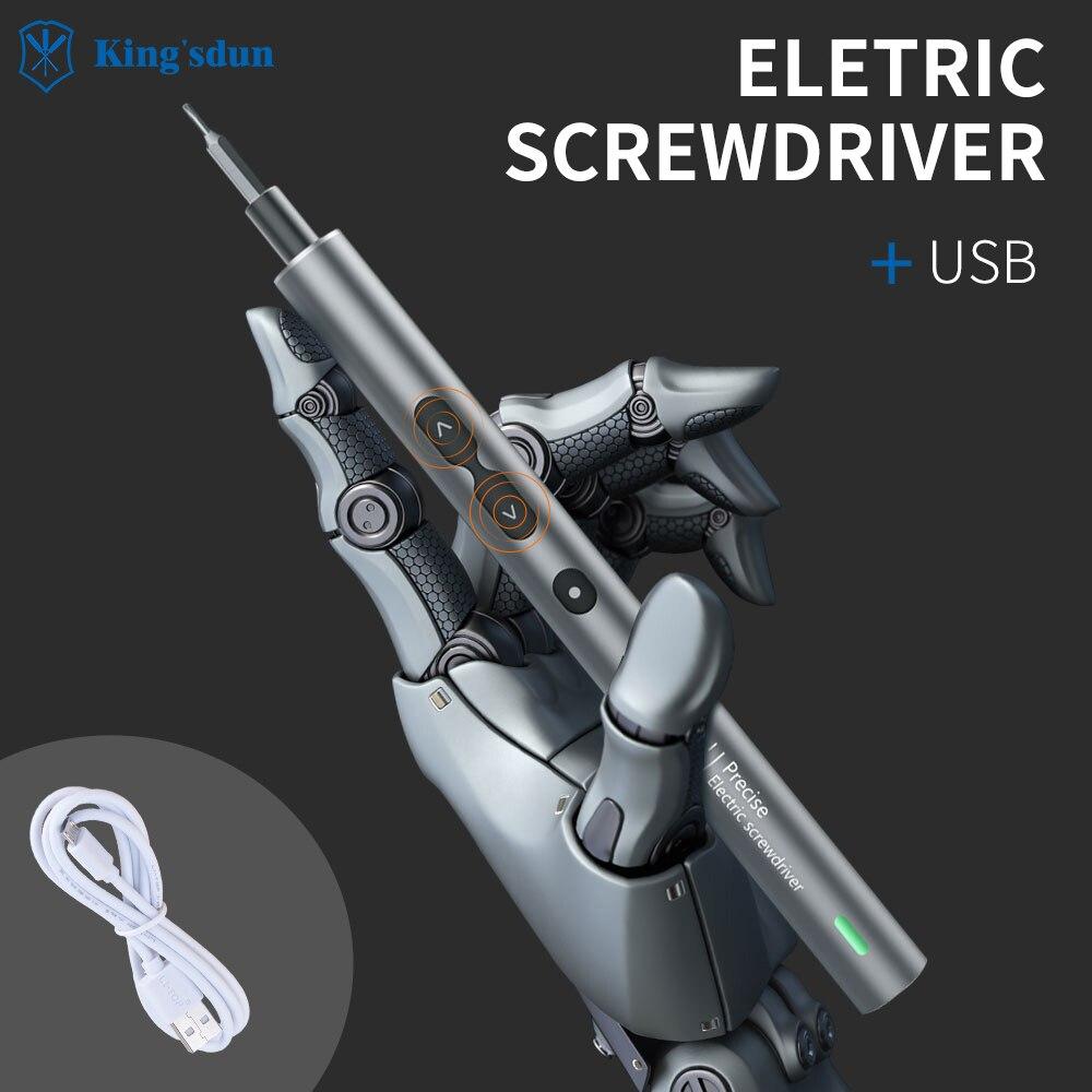 King'sdun 28 In 1 Precision Power Screwdriver Set for Xiaomi Phone Laptop Magnetic Multifunctional Electric Screwdriver set недорого