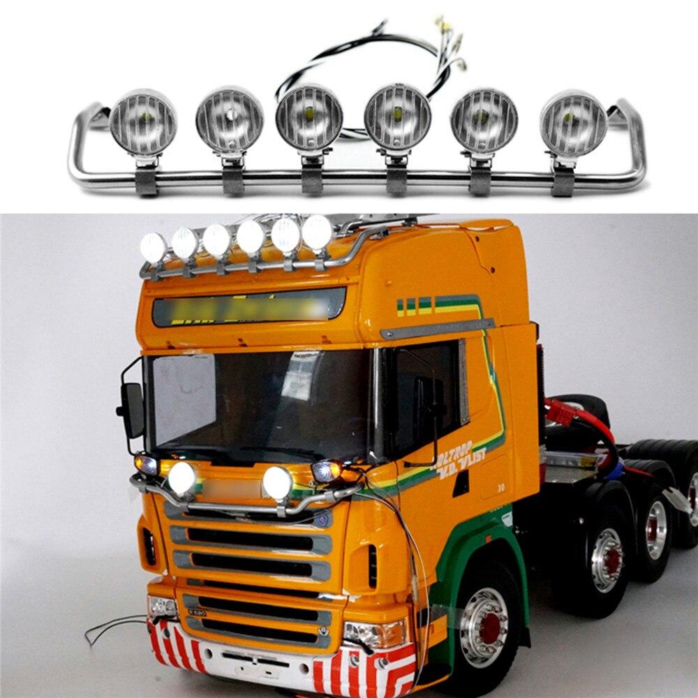 مصباح كشاف LED عالي ، مصباح علوي ، لـ TAMIYA Scania R620 R470 ، قطع غيار طراز RC 1:14