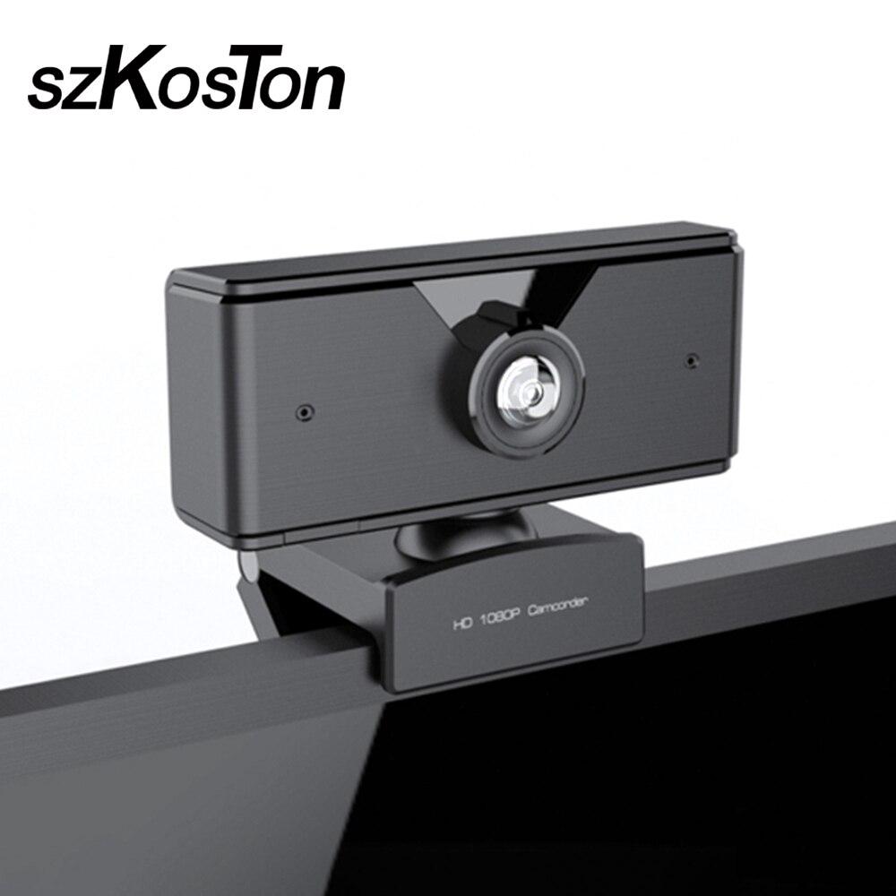 720P 1080P HD USB Webcam de PC cámara de red USB 2,0 cámara en vivo unidad de cámara libre con micrófono cámara Web para ordenador