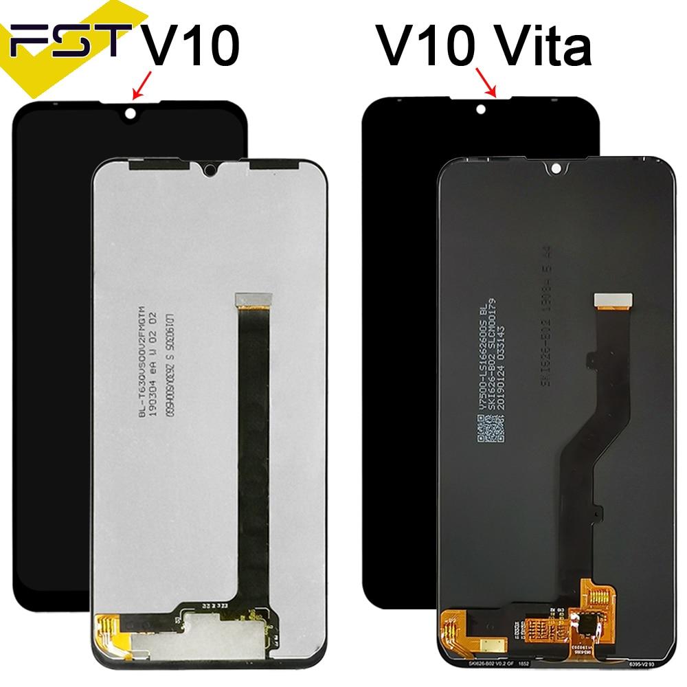 شاشة LCD أصلية مختبرة لـ ZTE Blade V10 Vita, مع مستشعر شاشة تعمل باللمس ومحول رقمي مع إطار LCD ZTE V10 Blade V10 Vita