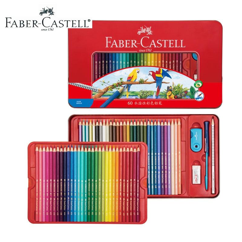 Faber Castell lápiz de color agua 24/36/48 colores caja de hojalata 114468, dibujo de artista no tóxicos para Juego de lápices, Alemania