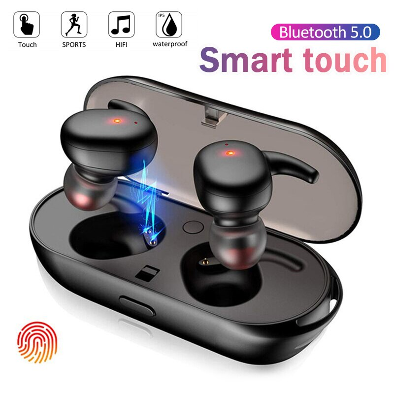 Y30 TWS Wireless headphones 5.0 Earphone Noise Cancelling Headset Stereo Sound Music In-ear Earbuds