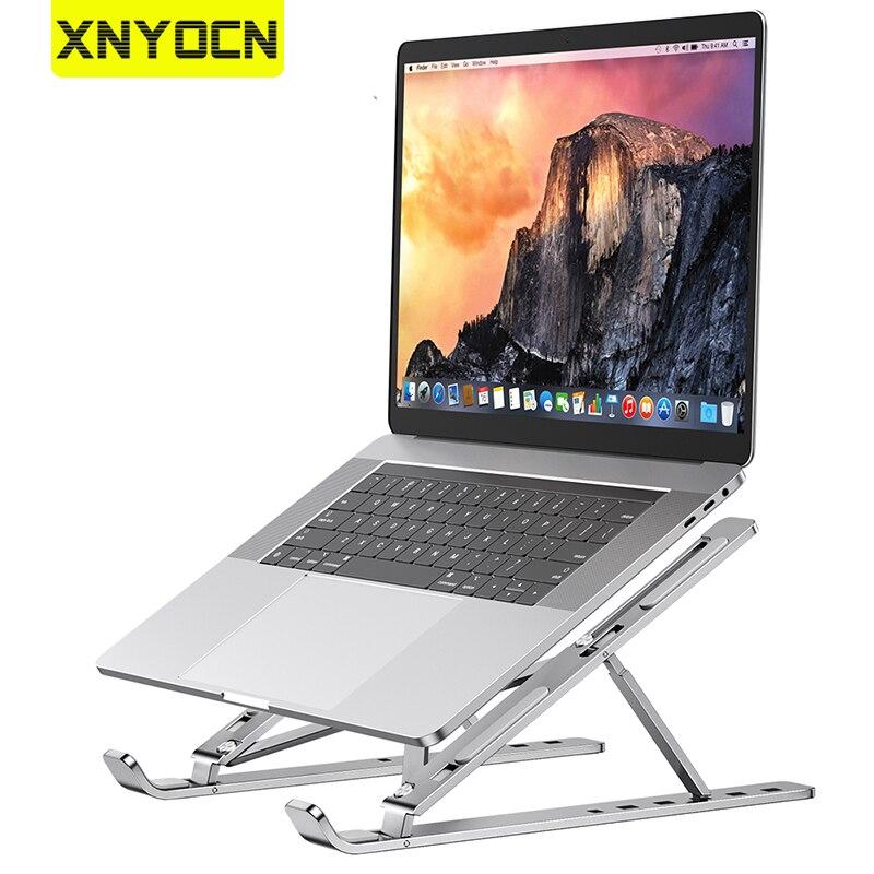 Xnyocn portátil suporte de alumínio dobrável portátil portátil notebook suporte para macbook ar samsung acessórios do computador