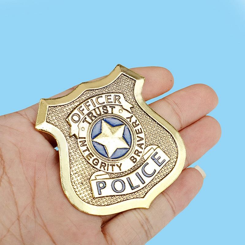 Movie Zootopia Judy Hopps POLICE BADGES Officer Logo Alloy Badge Brooch Zootropolis Bunny Judy Badge Pins Jewelry