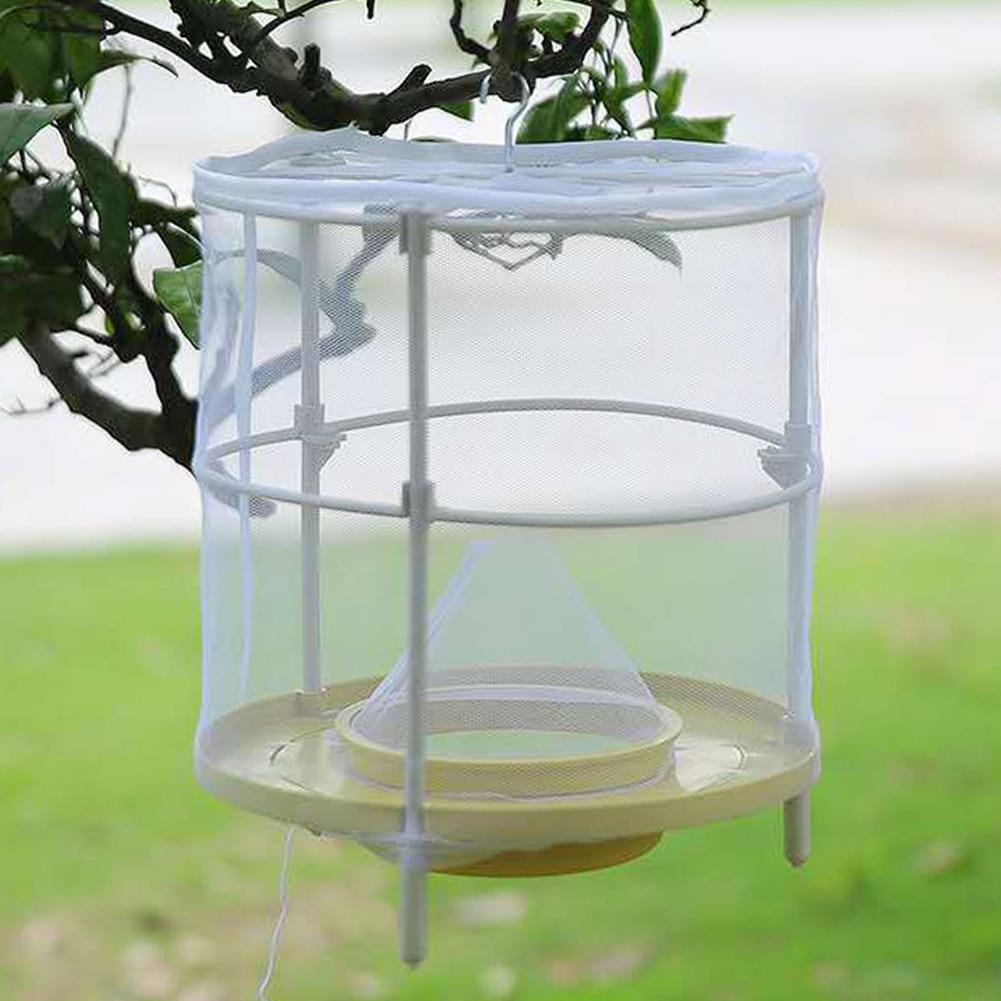 Reusable Flytrap Net Hanging Flies Cage Cockroach Mouse Pest Killer Repeller Bug Killer Home Yard Fl