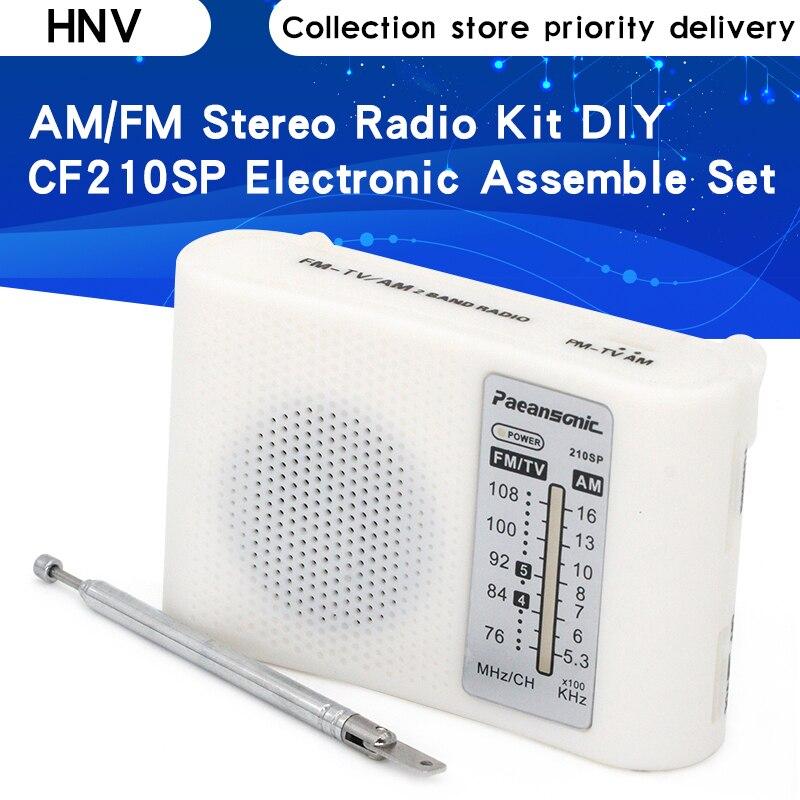 Комплект радиоприемника CF210SP AM/FM July DropShip, набор для сборки электроники «сделай сам», для учащихся