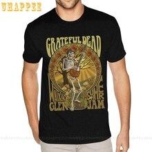 1980s Die Grateful Dead Rock & Roll-Band T Shirt Druck T-shirts Für Freund 3XL Schwarz Shirts