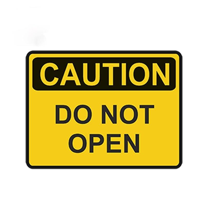 Предупреждение знак не открывайте наклейка