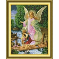 angel convoy counted cross stitch diy kit character patterns printed canvas embroidery needlework set dmc 14ct fabric home decor